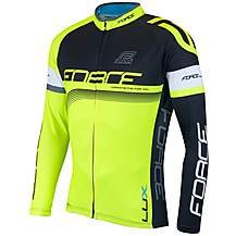 image of FORCE LUX Long Sleeve Cycling Jersey