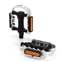 image of XLC Plastic/Alloy MTB Pedal - Black/Silver