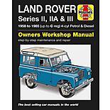 Haynes Land Rover Series II, IIA and III Petrol & Diesel Manual (58 - 85) up to C