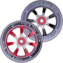 image of Crisp Hollowtech Wheels 100mm, Grey/Red