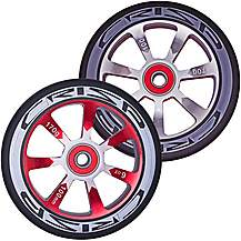 image of Crisp Hollowtech Wheels 110mm, Grey/Red