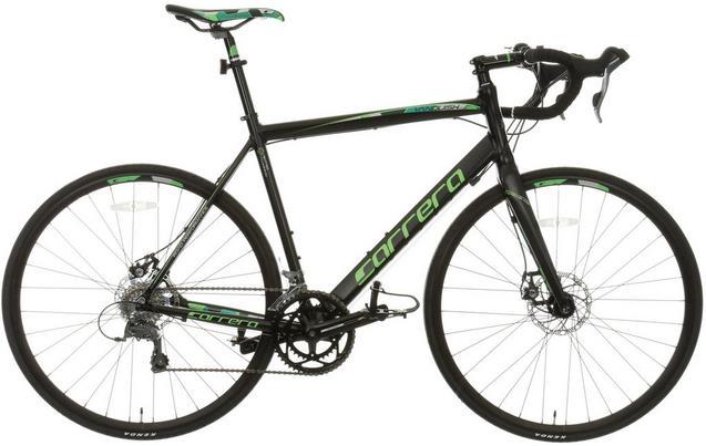Carrera Vanquish Disc Mens Road Bike - Black - M, L Frames