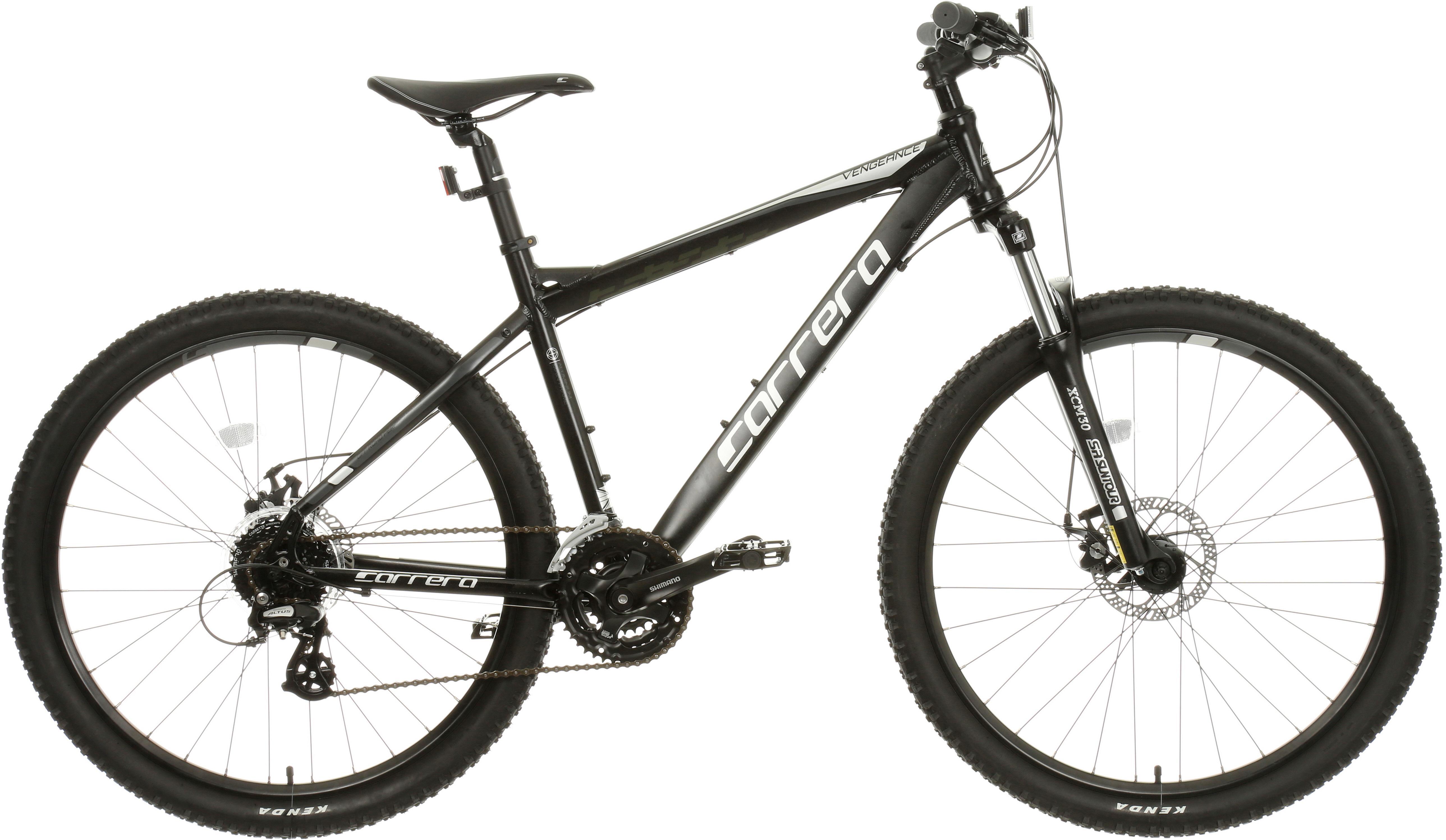 Carrera Vengeance Mens Mountain Bike - Black, XS