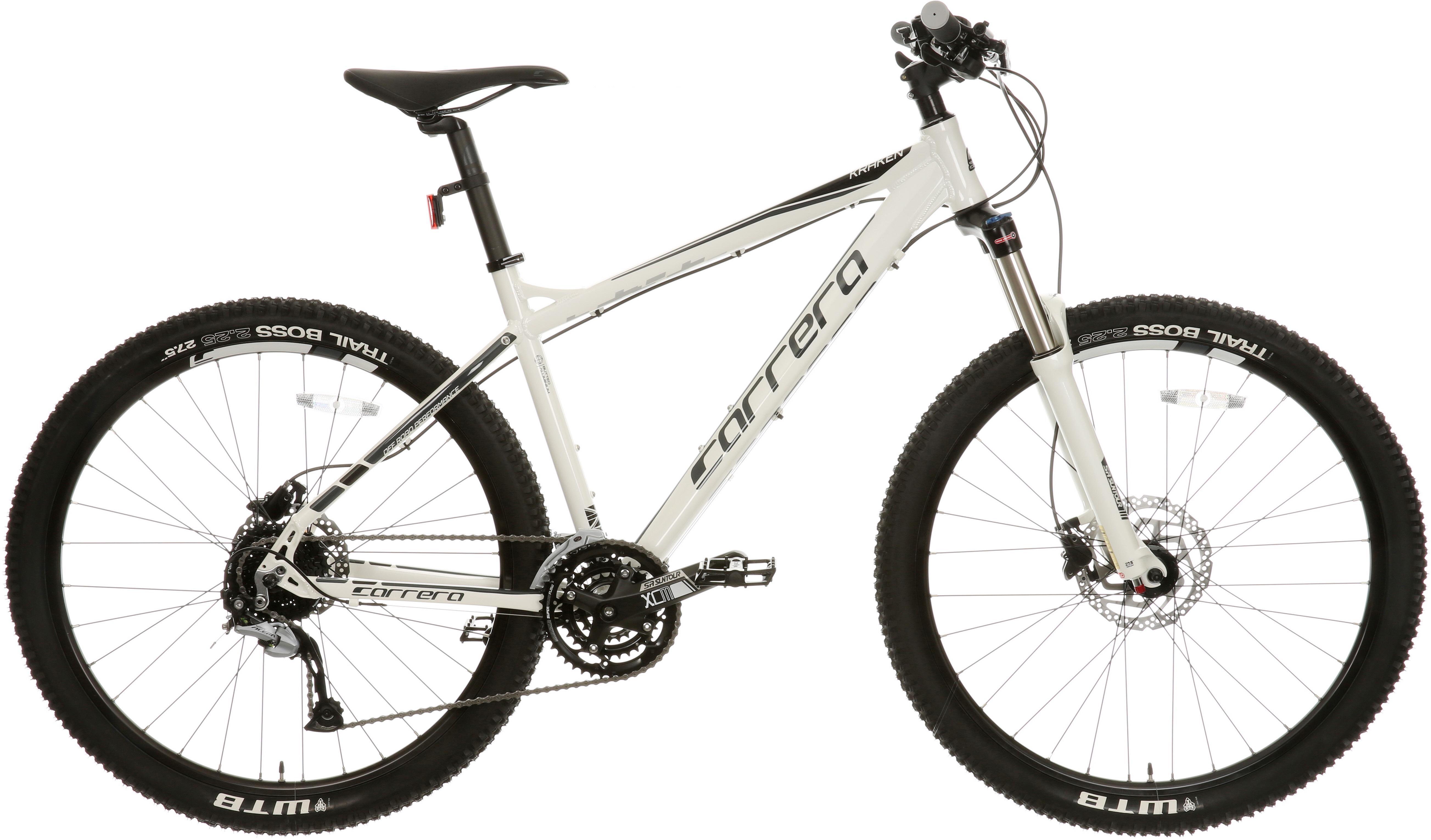 Carrera Kraken Mountain Bike - White, Medium