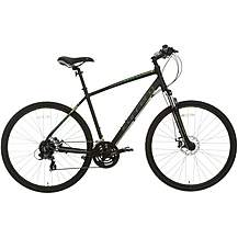 image of Carrera Crossfire 2 Mens Hybrid Bike - Black - S, M, L Frames
