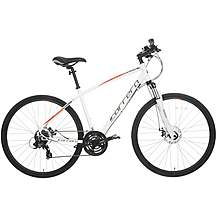 image of Carrera Crossfire 2 Mens Hybrid Bike - White - S, M, L Frames