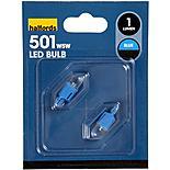 Halfords Blue LED501 Bulb