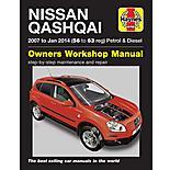 Haynes Nissan Qashqai Petrol & Diesel Manual (07 to 12) 56 to 62