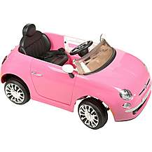 image of Fiat 500 6V Electric Ride on Car - Pink