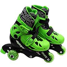 image of Elektra Tri Line Skates Green & Black