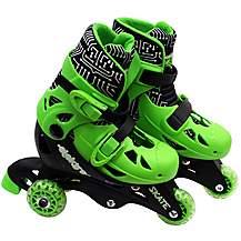 image of Elektra Tri Line Skates Green & Black