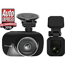 image of Philips GoSure ADR820 Front Dash Cam with GPS and RC20 Rear Dash Cam