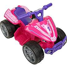 image of EVO Volt 6V Electric Ride On Quad - Pink