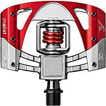 image of Crankbrothers Mallet 3 Pedals - Raw/Red