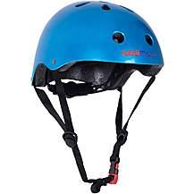 image of Kiddimoto Metallic Blue Helmet