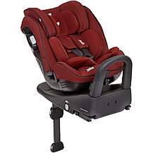 image of Joie Stages Isofix 0+/1/2 Child Car Seat - Cranberry