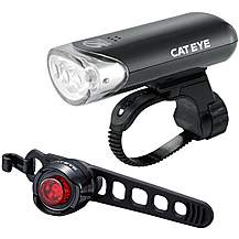 image of Cateye EL135 and Orb Black Rear Bike Light Set