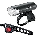 Cateye EL135 and Orb Black Rear Bike Light Set