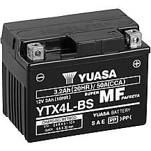 Yuasa YTX4L-BS Maintenance Free Motorcycle Ba