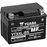 image of Yuasa YTX4L-BS Maintenance Free Motorcycle Battery