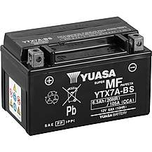 image of Yuasa YTX7A-BS Maintenance Free Motorcycle Battery