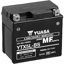 image of Yuasa YTX5L-BS Maintenance Free Motorcycle Battery