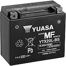 image of Yuasa YTX20L-BS Maintenance Free Motorcycle Battery