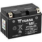image of Yuasa YT12A-BS Maintenance Free Motorcycle Battery
