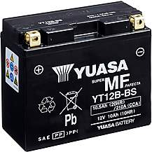 image of Yuasa YT12B-BS Maintenance Free Motorcycle Battery