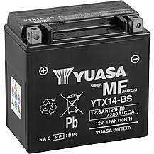 image of Yuasa YTX14-BS Maintenance Free Motorcycle Battery