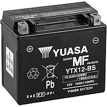 image of Yuasa YTX12-BS Maintenance Free Motorcycle Battery