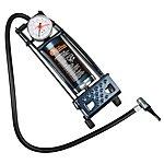 image of Halfords Essentials Metal Barrel Foot Pump and Gauge
