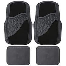 image of Carpet & Rubber Mat Set - Black
