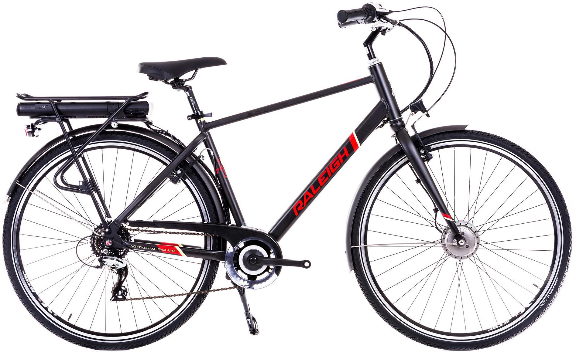 04955043994 Image of Raleigh Array Crossbar Acera Electric Hybrid Bike - Black -19 inch