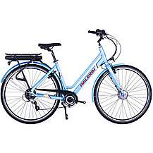 image of Raleigh Array Lowstep Acera Electric Hybrid Bike - Navy - 18""