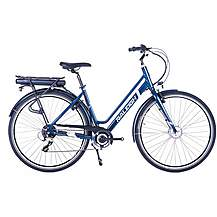 image of Raleigh Array Lowstep Acera Electric Hybrid Bike - Denim - 18""