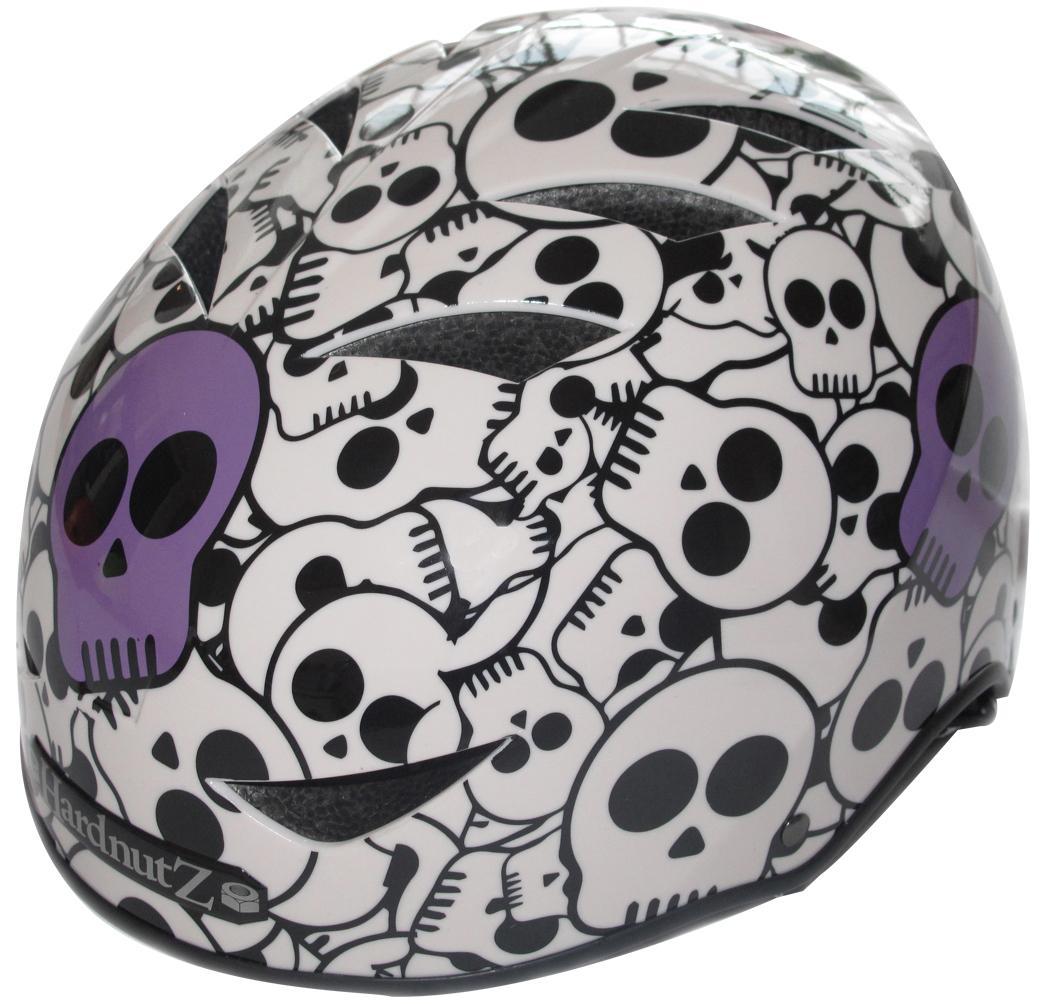 HardnutZ Street BMX Helmet Purple Skulls Skateboard Scooter Sports Adults Kids
