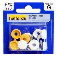 Halfords Number Plate Screws & Caps (HFX220)