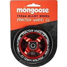 image of Mongoose 100mm Alloy Wheel Red/Black
