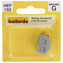 image of Halfords  Reuseable Wiring Connector  2 WAY HEF183