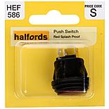 Halfords Push Switch On/Off Splash Proof Red (HEF586)