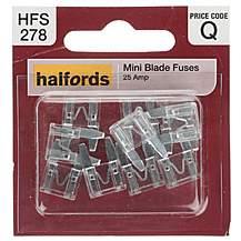 image of Halfords Mini Blade Fuse 25 Amp (HFS278)