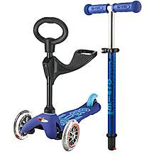image of 3 in 1 Mini Micro Deluxe Blue Kids Scooter