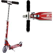 image of Micro Sprite Red Stripe Kids Scooter