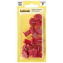 image of Halfords Cable Connector Self Strip Red (HEF604)