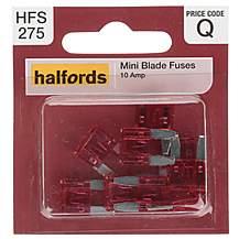 image of Halfords Mini Blade Fuses 10 Amp (HFS275)