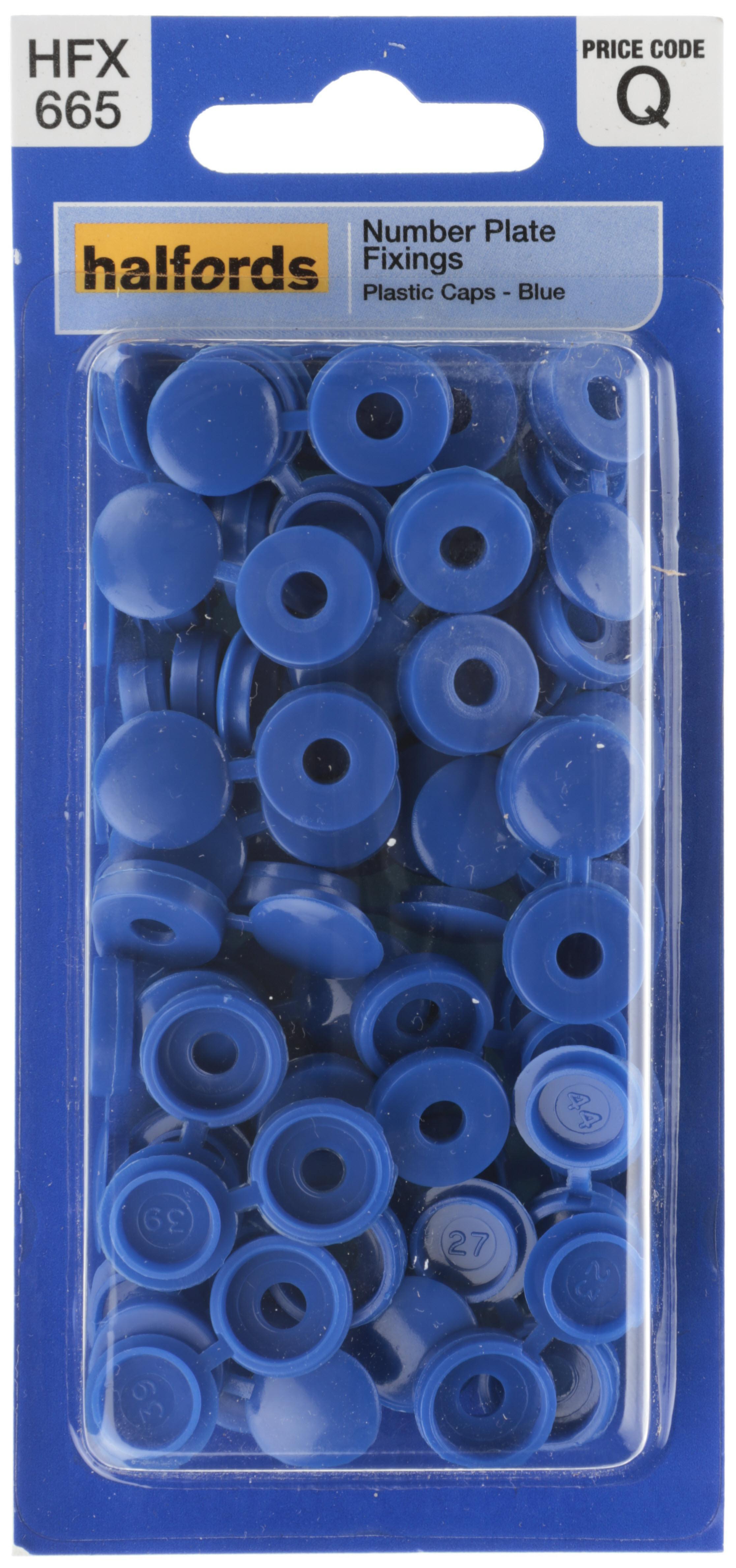 Halfords Number Plate Plastic Caps Blue (HFX665)  sc 1 st  Halfords & Halfords Number Plate Plastic Caps...