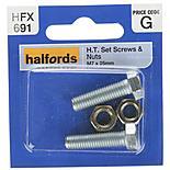 Halfords Set Screws & Nuts M7 x 25mm (HFX691)