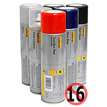 image of Halfords Gloss White Spray Paint 500ml