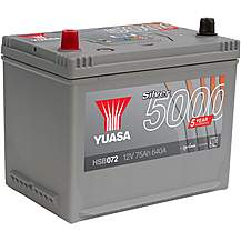 Yuasa HSB072 Silver 12V Car Battery 5 Year Gu